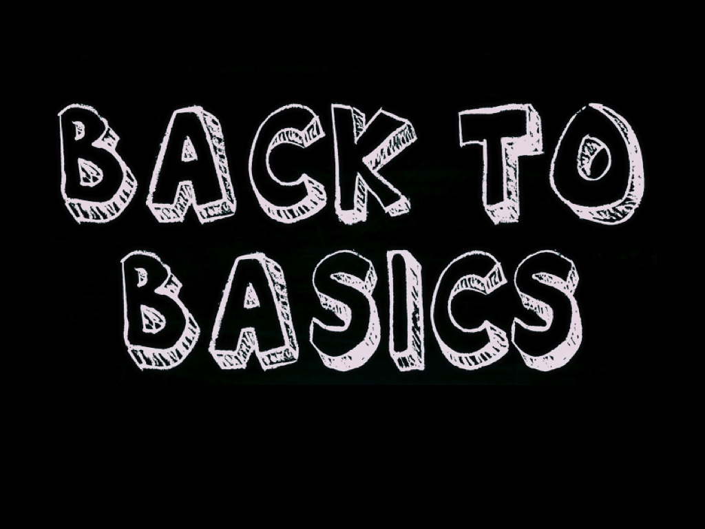 Schriftzug Back to Basics
