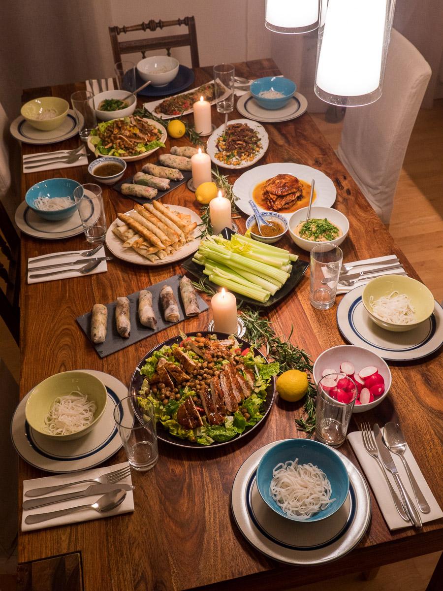 Kochen für Freunde- die große Tafel